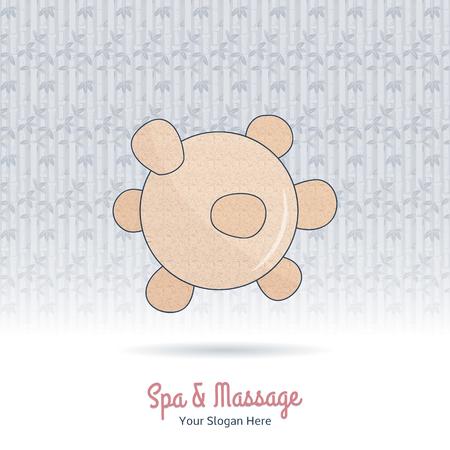 Hand drawn reflexology Thai massage tool.