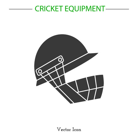 Sport icon. Cricket game equipment.