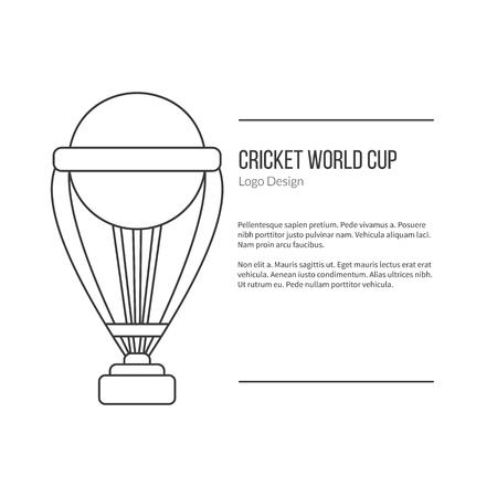 Cricket trophy.