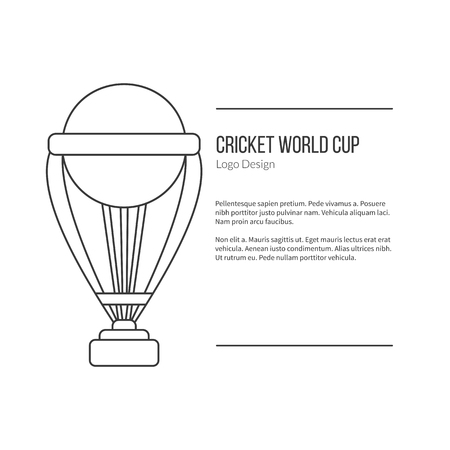 inning: Cricket trophy.