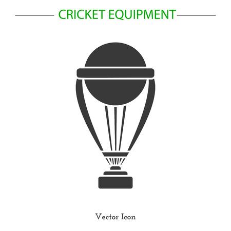 Sport icon. Cricket game equipment.