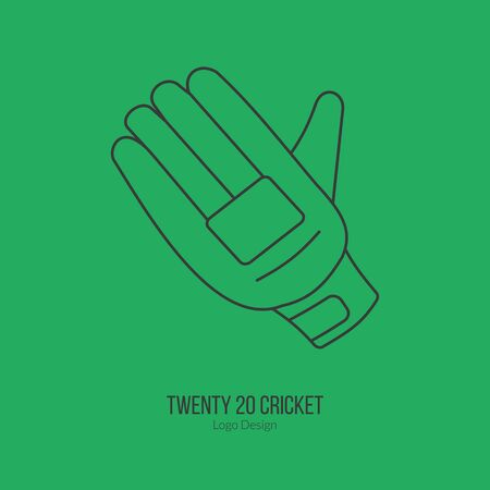 cricketer: Cricket glove. Illustration