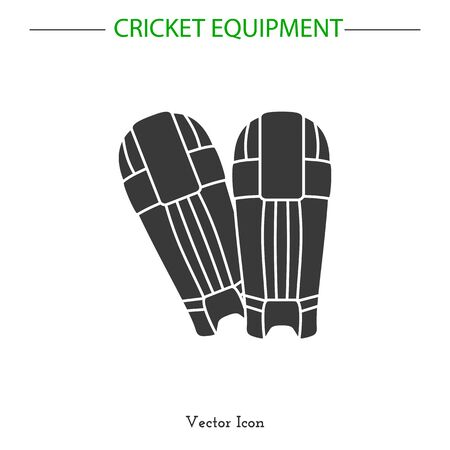 cricket game: Sport icon. Cricket game equipment.