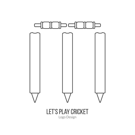 cricketer: Cricket stamps and bails.