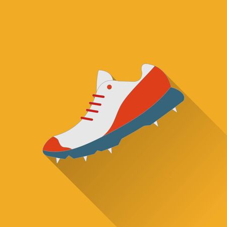 outsole: Cricket game equipment, flat icons composition. Professional sport theme. Unique, modern set isolated on background. Illustration