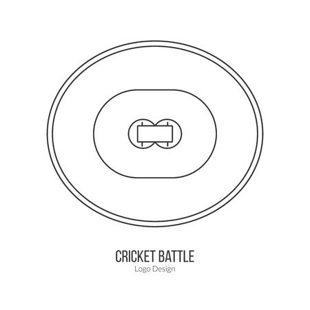 cricket field: Cricket field. Illustration