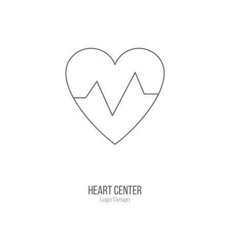 heart beats: Heart beats graph, cardiology sign. Illustration
