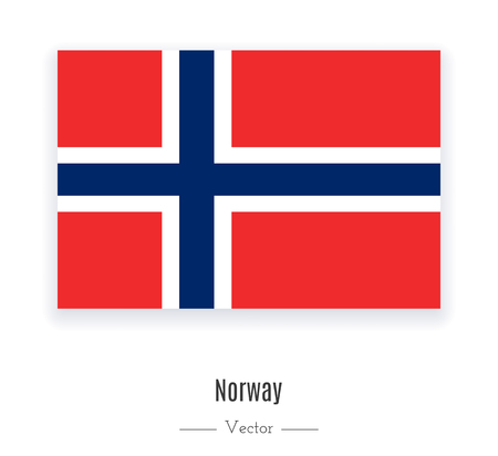norway flag: National flag of Norway. World content. Vector illustration. Illustration