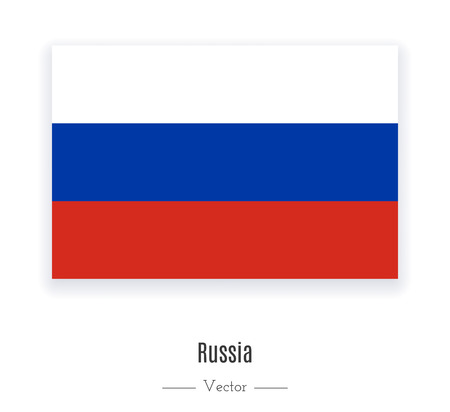 National flag of Russia. World content. Vector illustration.