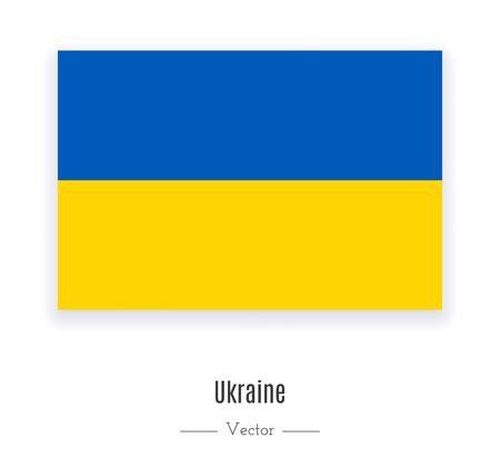 ウクライナの国旗。世界のコンテンツ。ベクトルの図。  イラスト・ベクター素材
