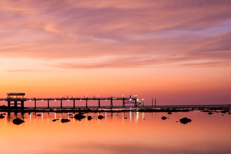 Bridge pier in phuket photo