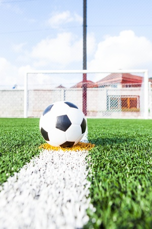 Soccer in the soccer field Stock Photo - 14754645
