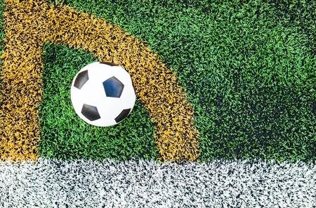 Soccer in the soccer field photo