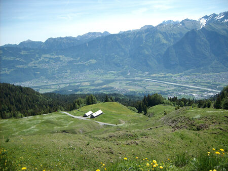 sargans: Rhine valley Stock Photo