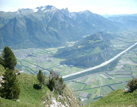 sargans: Faelknis mountain in Lichtenstein