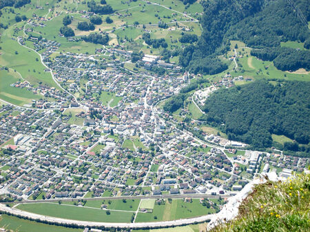 sargans: Mels view from Gonzen mountain