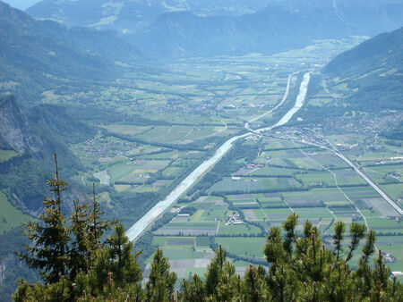 sargans: Rhine valley between Sargans and Landqart