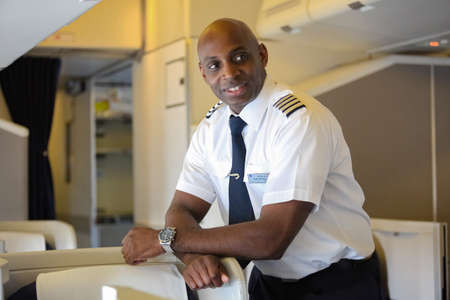 Johannesburg, South Africa - May 08 2012: British Airways Middle Aged Africam Male Captain Pilot Editorial