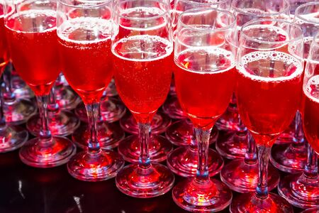 Wine Cocktail Welcome Drink at a corporate gala dinner banquet event