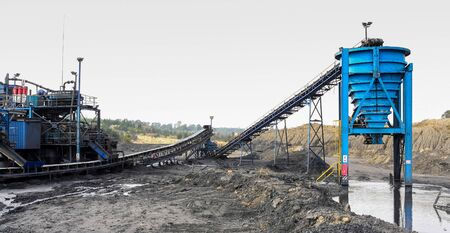 Industrial equipment used for washing and processing coal after it is mined