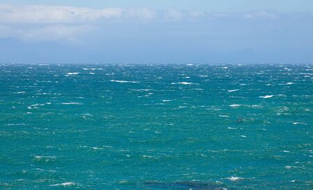 Big waves and rough seas on a very windy day in False Bay, Cape Town Archivio Fotografico