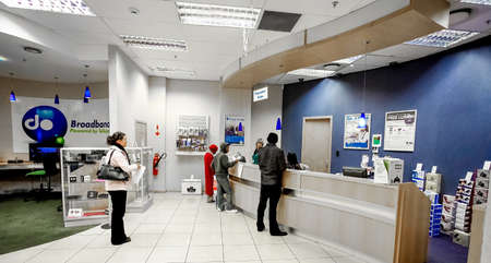Johannesburg, South Africa - July 05 2011: Inside interior of a mobile cell phone store in a Mall Editorial