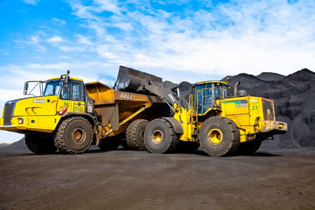 Johannesburg, South Africa - April 20 2012: Manganese Mining and Equipment