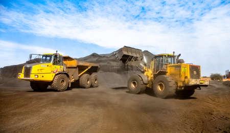 Johannesburg, South Africa - April 20 2012: Manganese Mining and Equipment Sajtókép