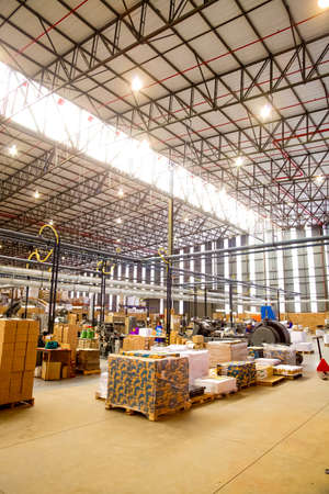 Johannesburg, South Africa - March 23 2011: Inside a Printing and Packaging Factory Facility