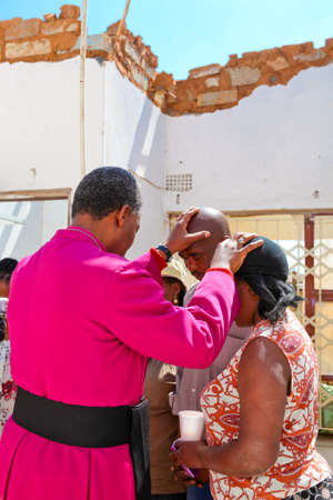 Johannesburg, South Africa - October 04 2011: Archbishop Priest Praying for his congregation