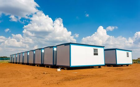 Relocatable mobile portable buildings used as prefabricated offices on building sites and other amenities