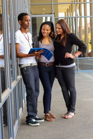 Johannesburg, South Africa, April 17, 2012, Diverse Students on College Campus