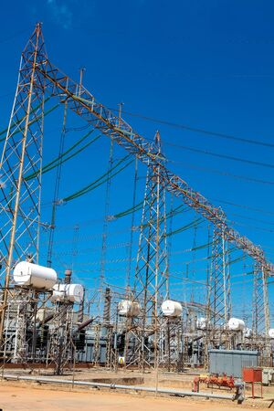 Johannesburg, South Africa - April 11 2012: Electric Power Distribution Plant Facility