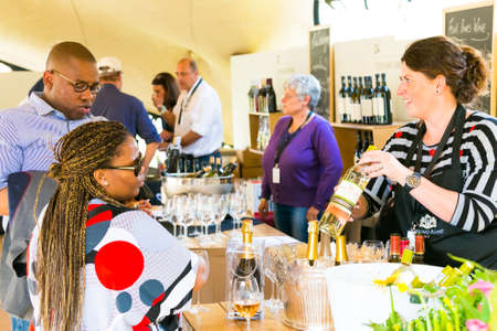 Johannesburg, South Africa - May 09 2015: Diverse People at an outdoor Food and Wine Festival