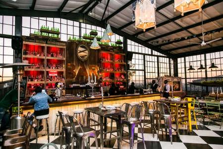 Johannesburg, South Africa - July 24, 2014: Interior of retro Bistro Restaurant and Bar