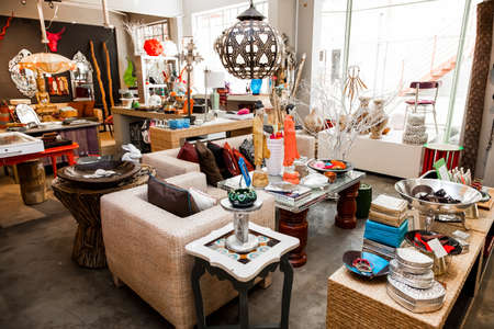 Johannesburg, South Africa - January 14, 2013: Interior of designer arts, crafts and antiques store Editoriali