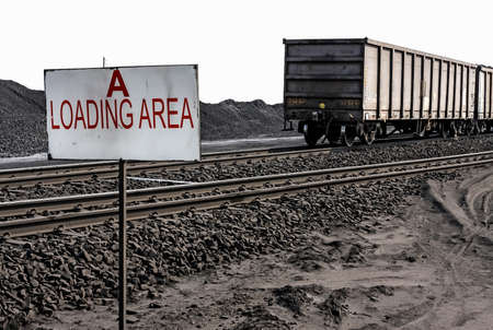 Coal mining railway siding loading area
