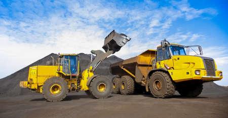 Mining Dump Truck transporting Manganese for processing, Manganese Mining and processing in South Africa