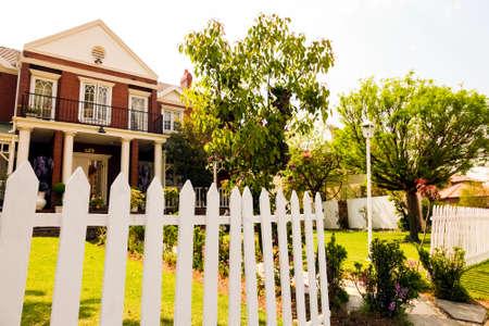 Johannesburg, South Africa - September 10, 2010: Upmarket wealthy suburban neighborhood in gated community estate
