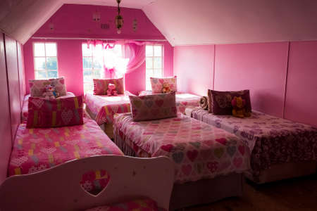 Johannesburg, South Africa - April 27, 2015: Inside of girls bedroom at children's orphanage charity Editorial