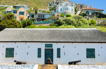 Cape Town, South Africa - March 23, 2021: Historic colonial building in small coastal town of Muizenberg Editorial