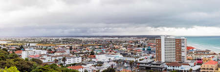 Cape Town, South Africa - March 10, 2021: Panoramic Elevated view of Muizenberg beach in False Bay, South Africa Editorial
