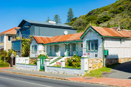 Cape Town, South Africa - March 23, 2021: Quiet neighbourhood of small coastal town of Muizenberg