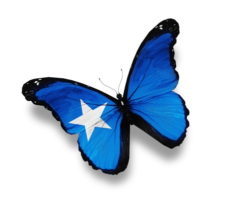 somali: Flag of Somali butterfly, isolated on white