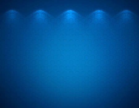 Illuminated blue wall, abstract background photo