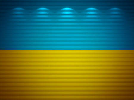 Ukrainian flag wall, abstract background photo