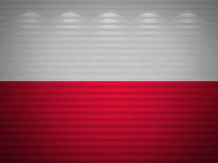 Polish flag wall, abstract background Stock Photo - 13769102