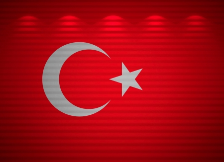 Turkish flag wall, abstract background Stock Photo - 13769106