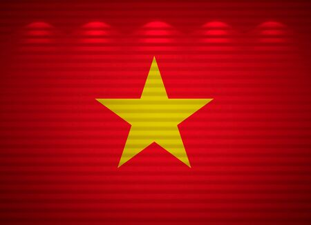 Vietnamese flag wall, abstract background Stock Photo - 13769104