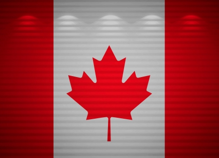 Canadian flag wall, abstract background Stock Photo - 13777473